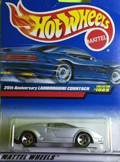 Hot Wheels Lamborghini Countach 1089 Diecast metal car toy scale 1/64 Mattel 3+. #HotWheels #Lamborghini