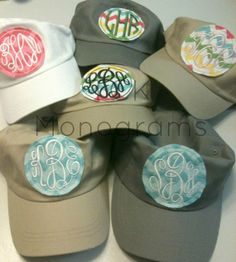 Preppy Monogrammed Personalized Patch Hat by tCkMonograms on Etsy, $16.00