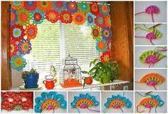 Resultado de imagen para cortina a crochet para cocina
