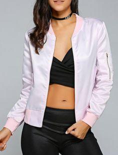 okaywowcool:  pastel pink bomber jacket  free shipping!