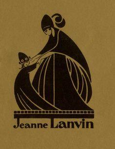Logo by Paul Iribe © Patrimoine Lanvin. #Lanvin125