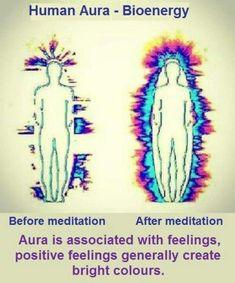 Meditation affects on aura