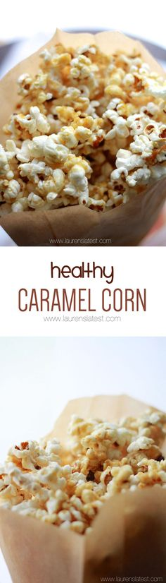Healthy Caramel Corn... Made from just 5 simple ingredients! #cleaneating #healthy