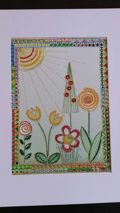Paper embroidery by Margaret Roolker