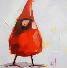 """Cardinal no. 62 Painting"" - Original Fine Art for Sale - � Angela Moulton"