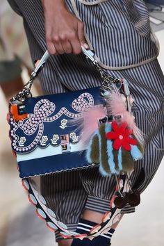 A model presents a creation for fashion house Fendi during the 2017 Women's…