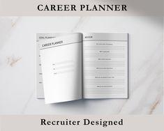 Career Planner, Printable Career Planner, Career Development Plan, Professional Career Planner + Career Planner User Guide, Career Choices by DCResumeandCV on Etsy One Page Resume Template, Modern Resume Template, Cv Template, Resume Templates, Marketing Resume, Sales Resume, Career Choices, Career Change, Career Planner