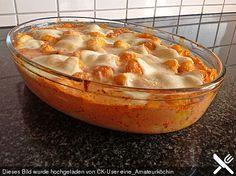 Gnocchi aus dem Ofen in Paprika - Tomaten - Sauce, ein tolles Rezept aus der…