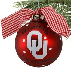 OU Christmas ornament