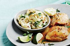 Honey-Lime Chicken With Roasted Spiced Cauliflower