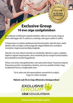Köszönjük szépen Mindenkinek ezt a csodálatos 10 évet! 😃✌️www.exclusivegroup.hu #exclusivegroup #tizev #koszonjukszepen #orom #buszkeseg #fullservice #teljeskorukiszolgalas Group