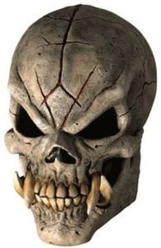 Halloween Costumes 2016 : Rubies Costume Co Doom Skull Mask Costume Halloween Masks, Scary Halloween, Mascara Papel Mache, Scary Characters, Zombie Mask, Vampire Fangs, Skull Artwork, Jewelry Roll, Yoga Jewelry