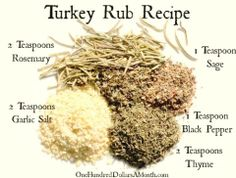 Thanksgiving is right around the corner and this year The Girl Who Thinks She& a Bird has decided to share her top secret turkey rub recipe. She uses this rub along with an entire stick of butter to prepare our bird every year. Best Thanksgiving Recipes, Thanksgiving Cakes, Thanksgiving Side Dishes, Holiday Recipes, Traditional Thanksgiving Recipes, Hosting Thanksgiving, Thanksgiving Parties, Christmas Desserts, Homemade Spices