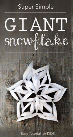 3D Snowflakes Tutorial for Children *So cool. Saving this for the kids!