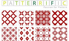 Seamless Pixel Patterns Red Elements