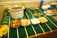 Football Party Table Ideas