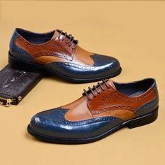 Plaid Lace-Up Pointed Toe Men's Dress Shoes Casual Leather Shoes, Suede Leather Shoes, Leather Men, Leather Fabric, Mens Fashion Shoes, Men S Shoes, Mens Business Shoes, Gentleman Shoes, Kicks Shoes