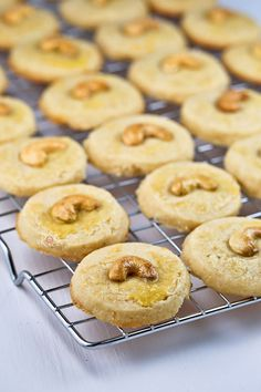 These buttery Cashew Nut Cookies have a crumbly sandy texture and a deliciously nutty flavor. Perfect for afternoon tea or the holidays.   RotiNRice.com