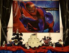 Decoração de Festa Homem Aranha #decoracao #decoration #homemaranha #spiderman #aranha #party #festa