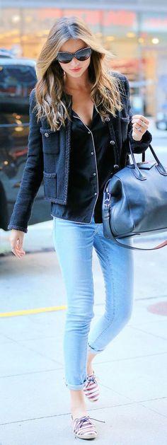 #street #style Miranda Kerr casual look @wachabuy
