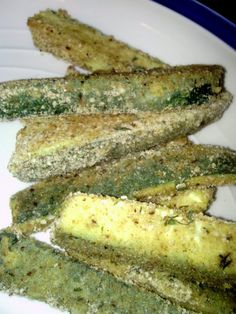 "Zucchini Fries - ""I won't lie, it takes a while to prepare, but they are very tasty and a healthy alternative for your family!"" @allthecooks #recipe"