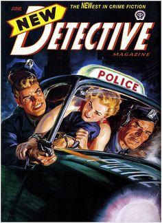NEW DETECTIVE #vintage #art #cover #pulp