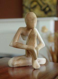 Natural Wooden Statue - Day Dream - 20 Cm | Fair Trade Gift Store | Siiren