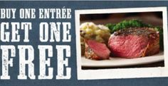 Lone Star Steakhouse: Buy One Entree Get One FREE Coupon (Valid 2/5)