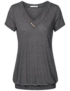 0b76f8acb5ef6 Ladies Tunic Tops,Messic Women's Comfy V Neck Short Sleeve Basic T-Shirt  Casual
