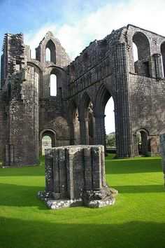 Scotland ~ Dundrennan Abbey, near Kirkcudbright. Mary Queen of Scots spent her last few hours in Scotland here after the Battle of Langside in Scotland Castles, Scottish Castles, The Places Youll Go, Places To See, Mary Queen Of Scots, England And Scotland, Ancient Ruins, Scotland Travel, Kirchen