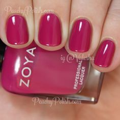 "Zoya Nail Polish: Summer 2015 Island Fun Collection - ""Nana"" is a lush deep magenta creme. So shiny. Great formula on this one as well. Gorgeous Nails, Love Nails, How To Do Nails, Pretty Nails, My Nails, Style Nails, Matte Nails, Acrylic Nails, Zoya Nail Polish"