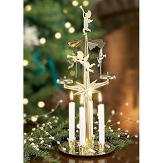 brass angel chimes original swedish christmas decoration with 4 candles