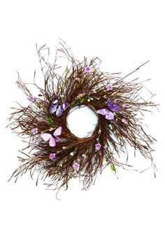Butterfly Wreath Natural & Hand Made... would look nice with lavender sprigs