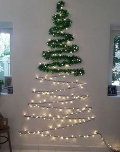 Check out this Wall Christmas Tree String Light on Shein and explore more to meet your fashion needs! Outside Christmas Decorations, Wall Christmas Tree, Ribbon On Christmas Tree, Simple Christmas, Christmas Lights, Christmas Crafts, Christmas Ornaments, Upside Down Christmas Tree, Handmade Christmas Tree