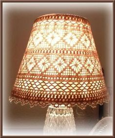 crochet lampshade | Crocheted Lampshade cover - Home Decor - Crochetville