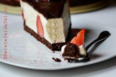 CHEESECAKE CU CAPSUNI SI CIOCOLATA - Rețete Fel de Fel Mousse, Cheesecake, Foods, Desserts, Home, Food Food, Tailgate Desserts, Food Items, Deserts