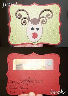 Rudolph gift card holder