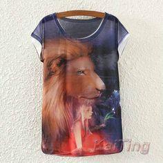 Women Animal Owl Cat Print T-shirt (Color: TP463) | To save upto 40% visit our website  uniquefashionusa.com