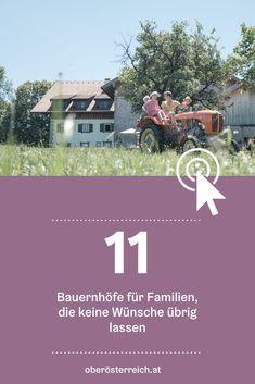Urlaub am Bauernhof? Wir haben für dich die schönsten Höfe in Oberösterreich gesammelt. #urlaubinösterreich #österreich #urlaubambauernhof #familienurlaub #urlaubmitkindern Reisen In Europa, Movie Posters, Family Vacations, Film Poster, Billboard, Film Posters