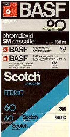 Vintage cassette packaging