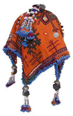 Antique orient Islamic Embriodered  Banjara wedding headdress sindh Pakistan -A