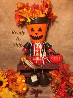 A personal favorite from my Etsy shop https://www.etsy.com/listing/468109422/pumpkin-decor-pot-people-fall-garden