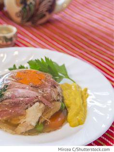 Fleischsülze aus Rindfleisch Cholodez is gowjadiny - Холодец из говядины - Russische Rezepte