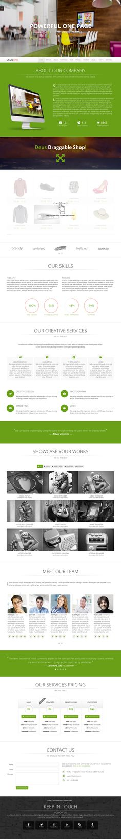 DeusOne is a reliable and fast responsive Bootstrap Template to promote small agencies or big creative minds. Can be used as both: single page or multi page.  The #template is fully responsive, and looks amazing on smartphone, tablet, and desktop. DeusOne also include additional pages like shop, blog, product presentation and 404. #website