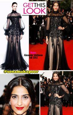 Sonam Kapoor goes Gothic in Alexander McQueen