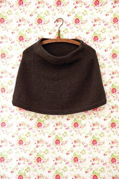 Chilly Spring weather is perfect for a cute capelet!   po.st/letsgetknitting  #Spring #Capelet #knitting #style #accessory