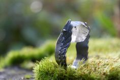 Icarus Ring - sterling silver, tourmalated quartz - by umberdove