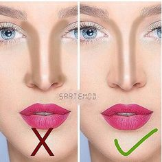 Pin by Kaja on Make up Nose Makeup, Contour Makeup, Nose Contouring, Contouring And Highlighting, Contouring Tutorial, Lip Makeup Tutorial, Makeup Inspo, Makeup Inspiration, Eye Makeup Pictures