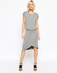 Image 1 of Just Female Drue Midi Dress in Gray