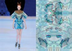 How amazing Alexander McQueen's Spring Summer 2010 collection is its print and pattern engineering.